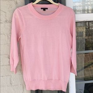 J. Crew pink merino wool crewneck sweater (small)